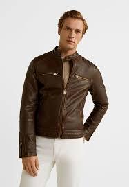 fer faux leather jacket kognac
