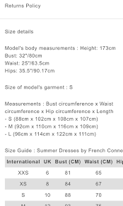 French Connection Size Chart Uk French Connection Dress Womens Fashion Clothes Dresses