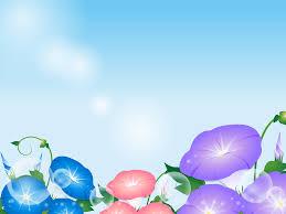 フリーイラスト 三色の紫陽花の花と青空の背景でアハ体験 Gahag