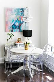 ikea ingatorp dining table with ghost dining chairs