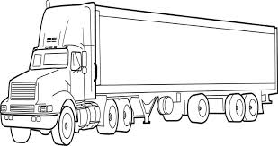 Truck And Rv Camper Trailer Coloring Page Free Printable Coloring