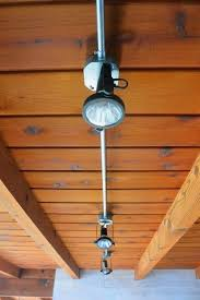 garage track lighting. perfect track diy track lighting between beams indoor garage ideas on n
