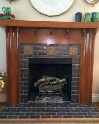 decorations craftsman tile fireplace beautiful home design classy simple to ideas with porcelain mantel designs