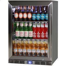 rhino 1 door alfresco outdoor glass door bar fridge model gsp1hl ss