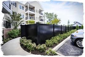 black vinyl privacy fence. Black Pvc Vinyl Fence Privacy