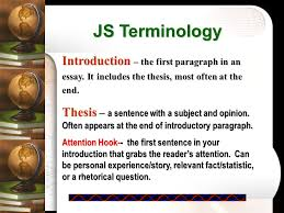 teaching the multi paragraph essay jane schaffer writing ppt introduction the first paragraph in an essay it includes the thesis most often