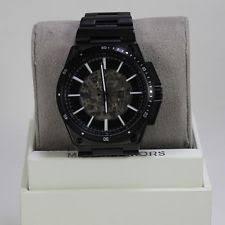 michael kors men s watch in gold new authentic michael kors wilder black automatic skeleton men s mk9023 watch