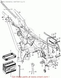 Wire harness battery cl175 schematic