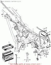 Honda cl175 scrambler 1968 k0 usa wire harness battery cl175 1966 honda 160 scrambler at wiring