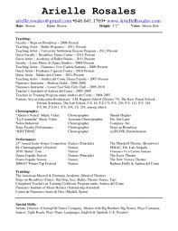 Resume Dance Instructor Resume Objective Camelotarticles Teacher