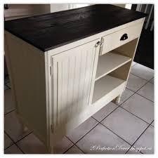 Kitchen Island Beadboard Remodelaholic Upcycled Vintage Desk Into Kitchen Island With Storage