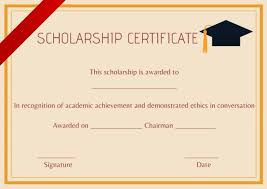 Scholarship Certificate Template 11 Professional Templates Demplates