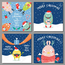 American Greetings Templates Set Of Hand Drawn Christmas Greeting Cards Templates With Cute