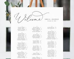 Wedding Seating Chart Ideas Templates Welcome Wedding Seating Chart Template Table Chart