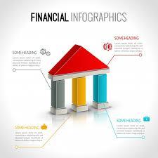 Financial Infographic Template Vector Premium Download