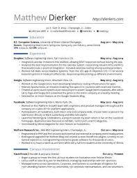 Resume For Engineering Internships