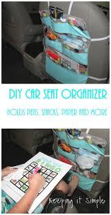 diy car seat organizer perfect for road trips