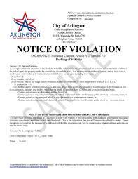 Lease Violation Form Notice Of Violation Letter Sample