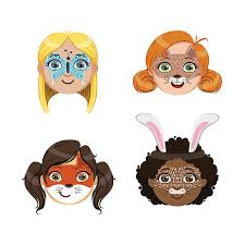 face painting clipart 6
