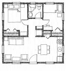 Small 2 Bedroom House Floor Plans Architecture Simple Square House Plans Model House Floor Plan