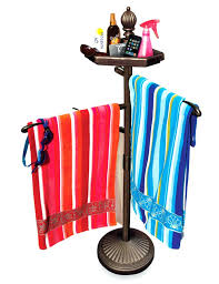 outdoor spa towel rack new pool and spa towel standing valet outdoor swimming accessories holder rack
