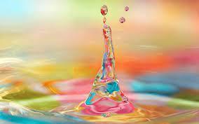 3d Colorful Water Drop Splash ...