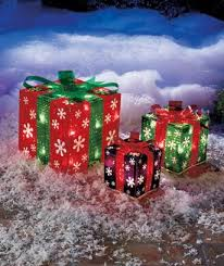 Stacked Holographic Present Christmas Yard Decoration, 24