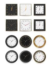 wall clock white and black dial timer