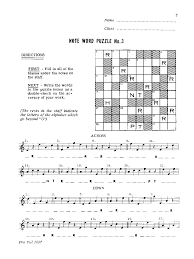 Note Word Puzzles Treble Clef Book J W Pepper Sheet Music