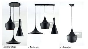 brand new with high metal pendant white black color golden inside 3 light bulbs set merkury