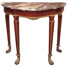 Small Venetian Painted Console Table with Marble Top For Sale