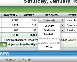If You Get Paid Semi Monthly What Is This Moneyslinger Personal Family Budgeting