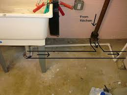 installing shower in basement floor to kitchen drain jpg