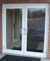 exterior design simple two front door design ideas with clear glass screen and big door