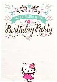Printable Hello Kitty Invitations Personalized Hello Kitty Free Printable Invitation Templates
