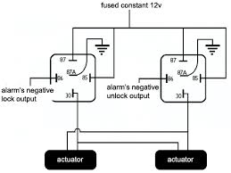 installing actuators wiring diagram for actuators using two relays
