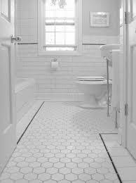 Bathroom Tile Floor Floor Black And White Bathroom Floor Tile Theflowerlab Interior