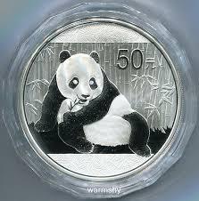 <b>China 2015 Panda Commemorative</b> Silver Coin 5oz 50 Yuan COA ...