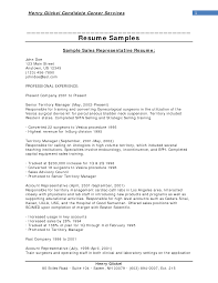 Cover Letter Sample Sales Representative Resume With Professional