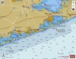 Shinnecock Bay Chart Shinnecock Bay To Moriches Bay Long Island Ny Marine Chart