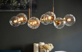 staggered glass chandelier light west elm ceiling