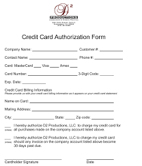 One Time Credit Card Authorization Form - Kleo.beachfix.co