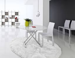 kitchen pretty white round extending table 16 valuable ideas dining adorable