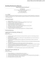 General Maintenance Resume Beauteous December 48 Rainbowbrainme