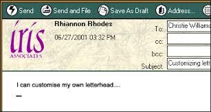 Creating A Custom Letterhead