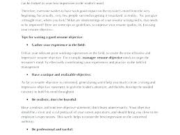 Examples Of Career Objectives On Resume Example Resumes Objectives