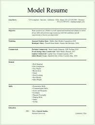 Modeling Resume Template Gorgeous Modeling Resume Template Beginners Flybymediaco