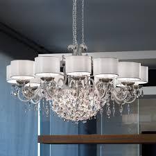 modern italian 12 arm antique silver chandelier