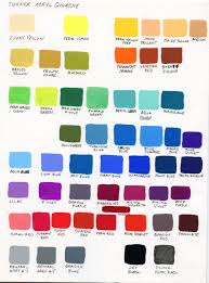 My Color Chart As A Beginner Turner Acryl Gouache In 2019
