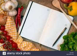 blank recipe book pages e for text with cooking ings and utensils